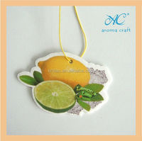 Lemon Lime scents hanging car air freshener wholesale