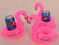 PVC Inflatable Pink Flamingo Water Drink Cup Holder