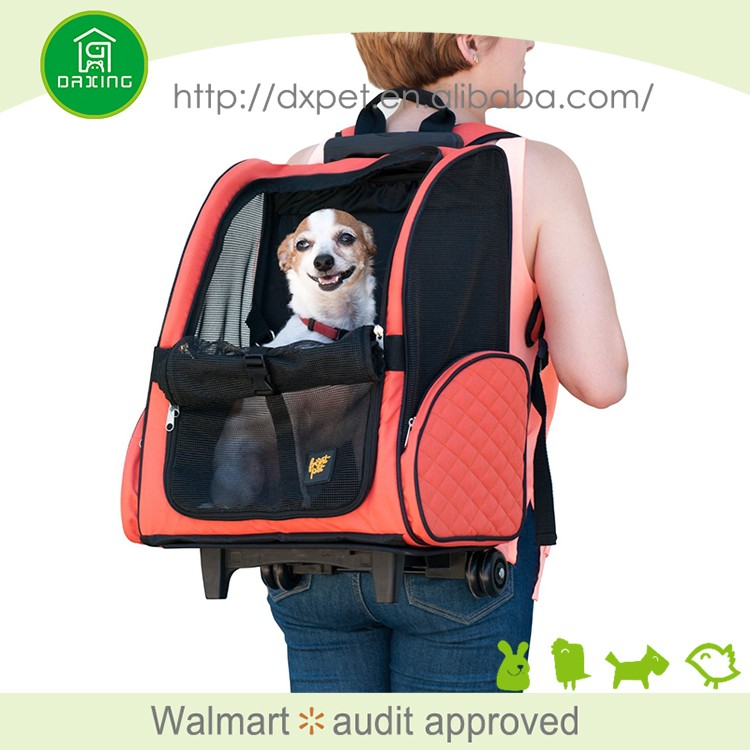 Pet Carrier Luggage Box Dog Crate with wheels Dog Backpack Crate Rolling Wheel