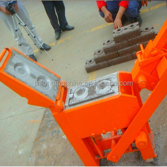 JL2-40 manpower demand concrete hollow block machine