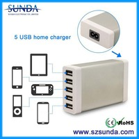 wireless usb adapter 5V7A 5 USB ports Wall Charger portable dvd player low price