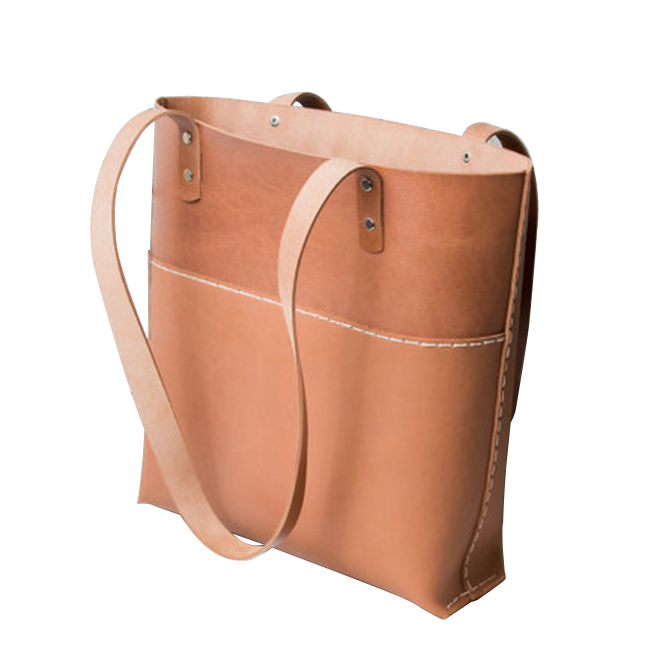 Handmade vegetable tan handbags leather handbags minimalist style famous manufacturer supplied directly