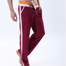 Wholesale 100% Cotton Fashion Custom Men Long Pants comfortable blank Running Pants string for men sports