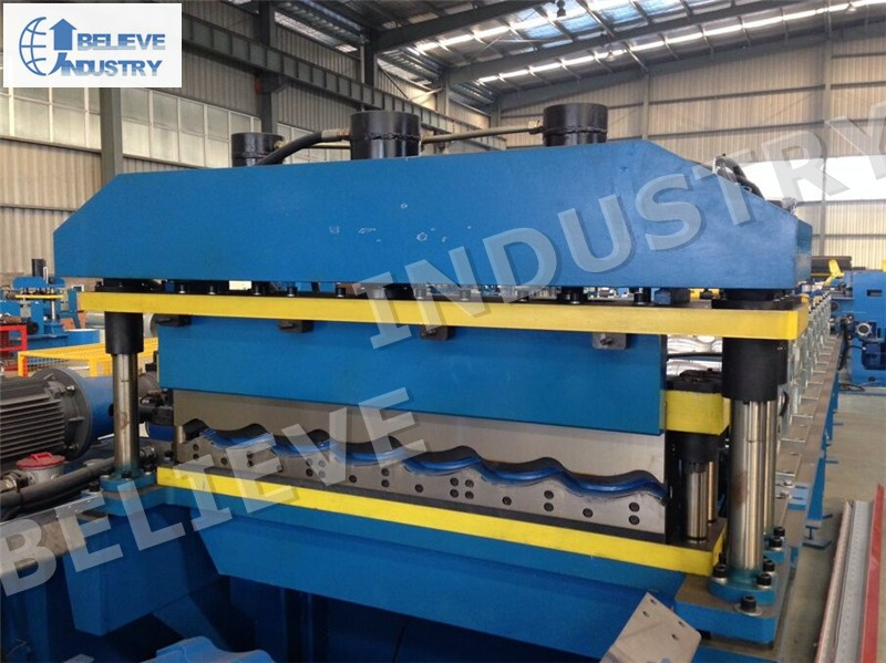 Glazed Steel Tile Roll Forming Machine/ Roof Tile Machine