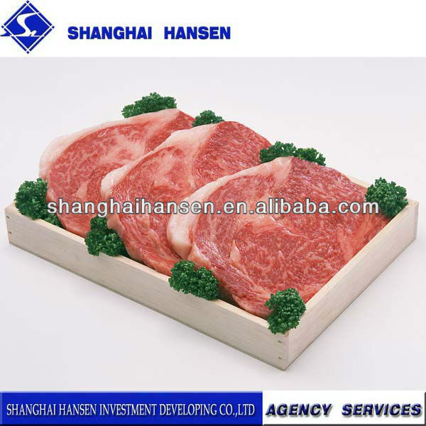 Lamb meat import and export agency services for customs declaration