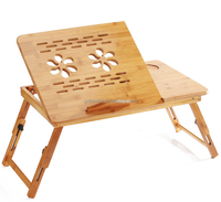 Wholesale wood bamboo laptop table folding laptop table