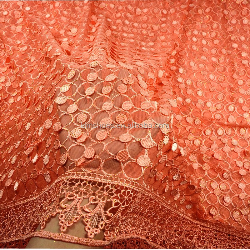 2016 african lace fabrics guangzhou textile high-end cotton nylon lace trimming guipure lace fabric