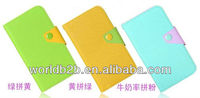 Wallet leather case for Samsung Galaxy S4 MINI I9190, wallet case,2013 New arrival