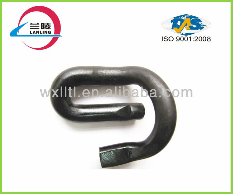 Elastic spring clamp used railroad track