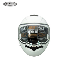 Affordable white color double visor helmet used motorcycle helmets for sale