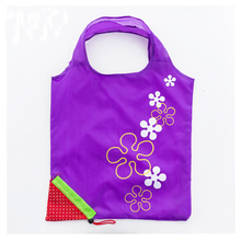 Hot selling reuseable supermarket customized logo nylon polyester Recyclable vest shape t-shirt hand tote shopping bags