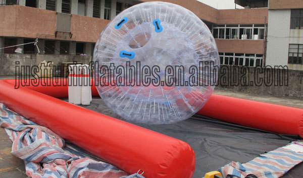 attractive color dot water zorb ball for adults