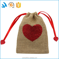 Custom made dust bag for jewelry and Small ornament dust cover bag linen drawstring jewelry bag