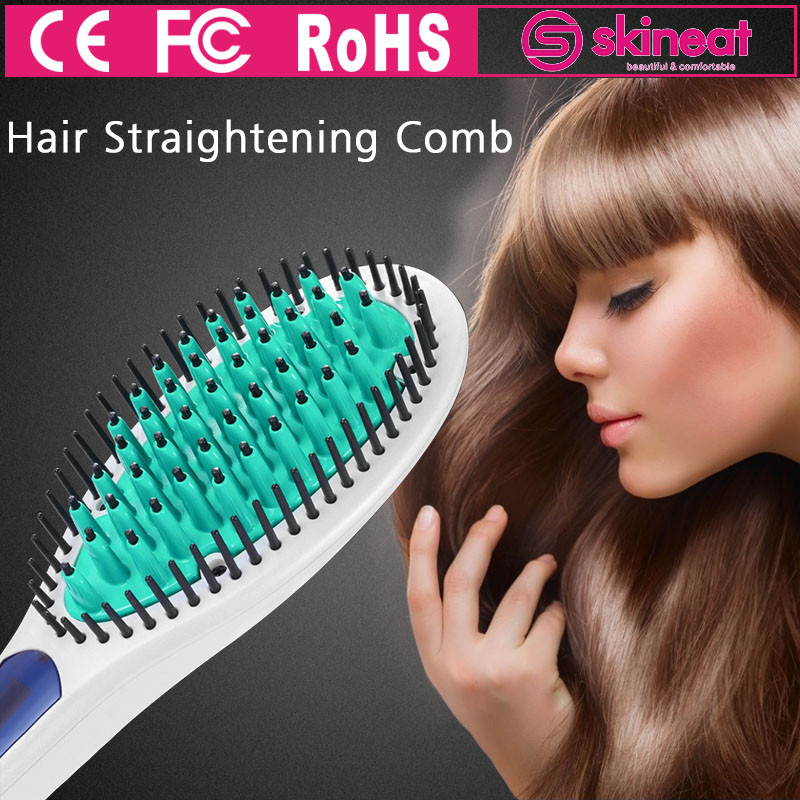 Electronic 20S Fast Speed LED Temperature Control Ionic Hair Straightening Comb