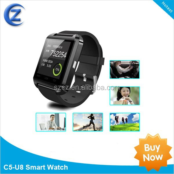 U8 smart phone watch + answer call + time display + touch display + music display + pedometer + altimeter PRO OCT