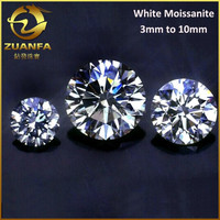 wholesale or retail colorless round brilliant cut 4mm 0.3 carat white synthetic moissanite