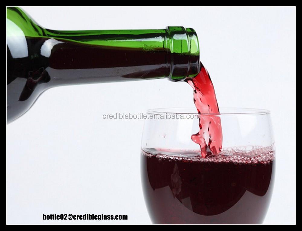 Australia quality 750ml red wine glass bottle cheap custom for Red glass wine bottles suppliers