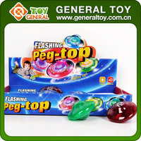 Light Up Super Plastic Spinning Top Toy