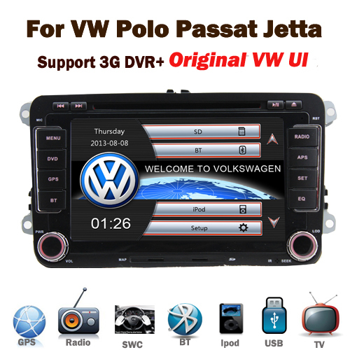 Factory price Original interface 2 din car dvd gps for VW Volkswagen Passat POLO GOLF Skoda Seat