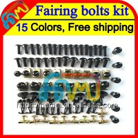 15Color BLK Fairing bolts kit full screw set For HONDA CBR600F4 99 00 99-00 CBR600 F4 CBR 600 F4 CBR 600F4 1999 2000 Nuts screws