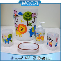 2014 cheap Kids bathroom accessory sets, animal shaped, cymbiform