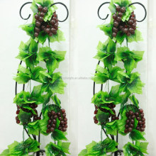 home decorative grape vine cheap wholesale hanging artificial grape vine for indoor wall decoration