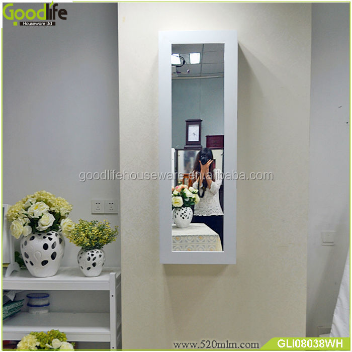 Home finishings folding iron board cabinet with dressing mirror