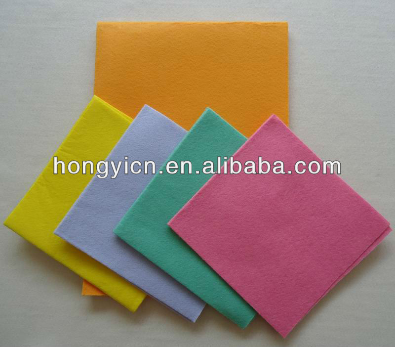 80%viscose, 20%polyester needle punched nonwoven microfiber cleaning cloth