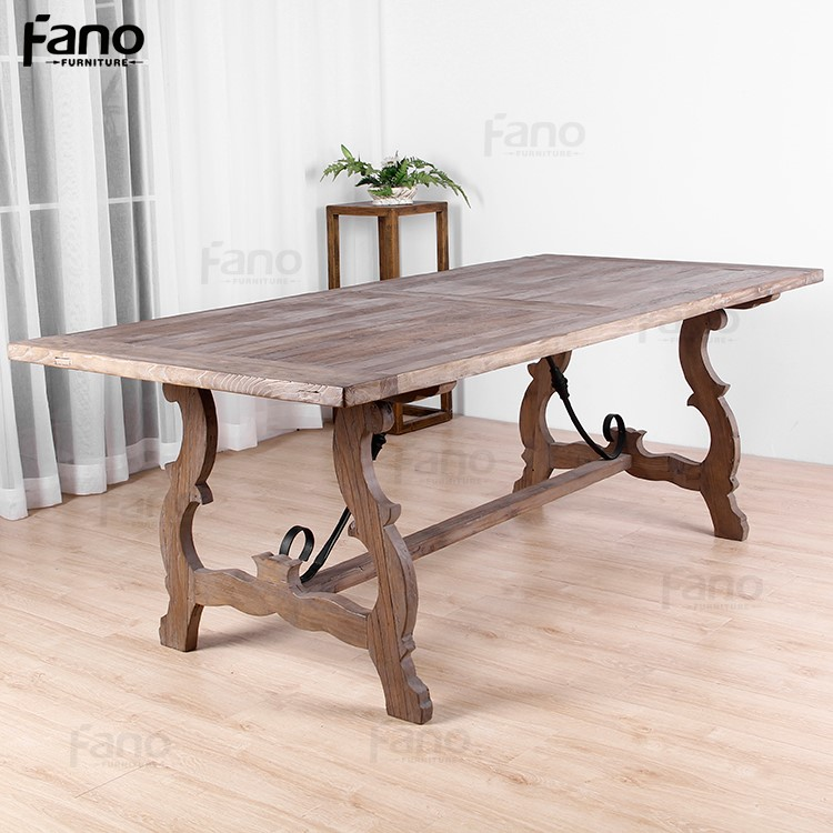 antique chinese furniture reclaimed wood dining table designs with elegant legs classic recycled wooden dining table