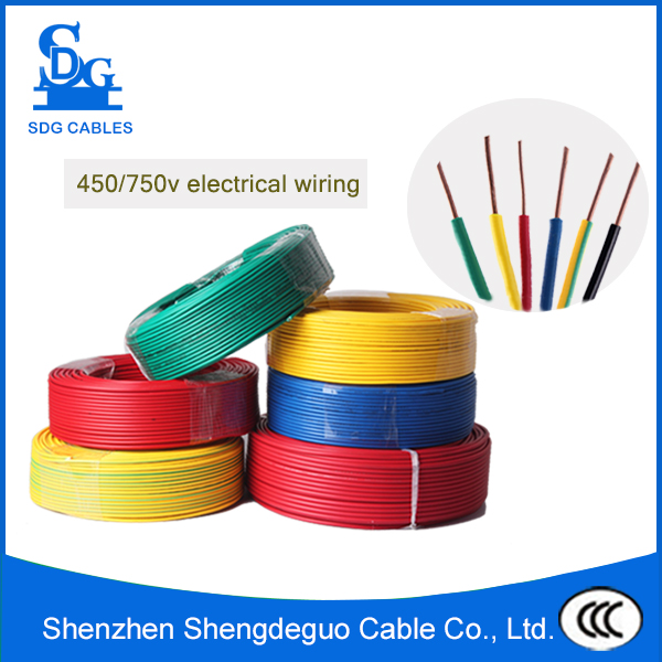 single core 1.5mm 2.5mm 4mm pvc insulator copper home electrical wire cable