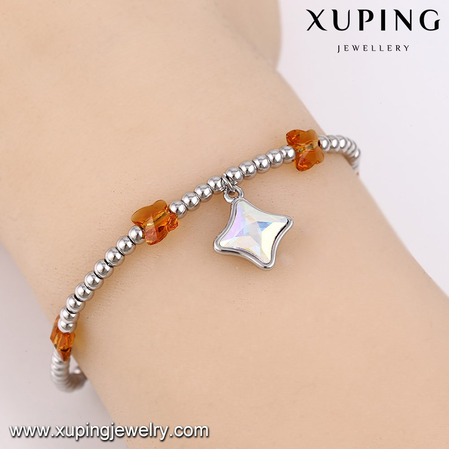 74632-best brand fashion jewelry Crystal bracelet, homemade crystal beads bracelet