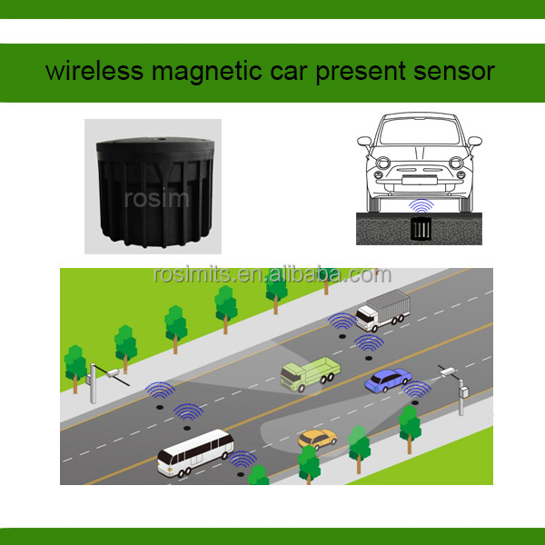 High accurate wireless magnetic traffic vehicle presence detection sensor