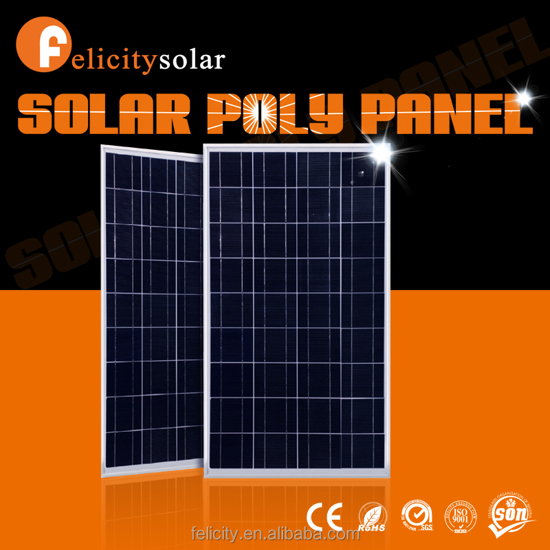 Felicitysolar high quality A grade 150w poly export best price power pv solar panel