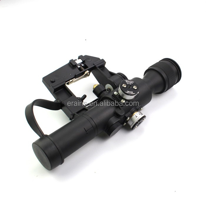 Military Standard Riflescope with SVD 4X24 Red Illuminated Reticle Rifle Scope