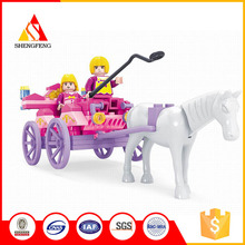 plastic building blocks toys for carriage with girls
