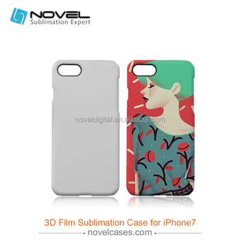 2016 high quality sublimation 3D film case for iPhone7