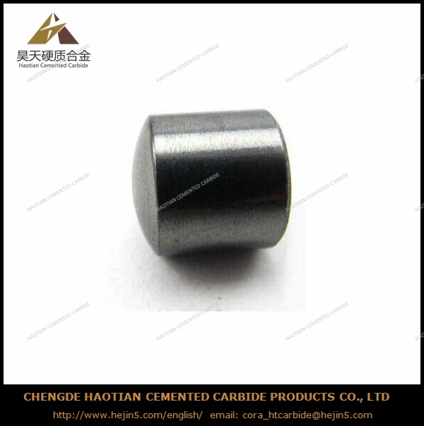 Tungsten carbide flat top button for oil-field drilling bit