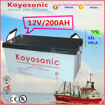 12v 200AH Sealed MF GEL storage Lead Acid Batteries VRLA AGM rechargeable battery with High Quality