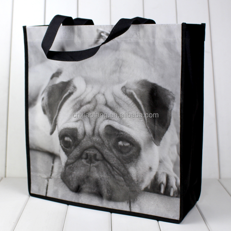 wholesale shar-pei puppy lamination non woven polypropylene bag
