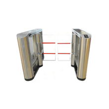 rfid card reader access control glass high security half height swing turnstile gate