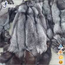 China supplier Natural real silver Fox Fur skin wholesale Fox Fur pelts for sale