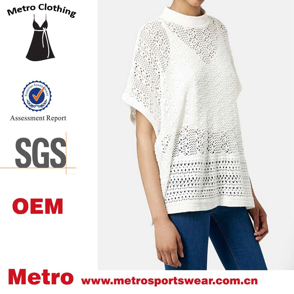 Trade Aussred latest hollow crochet loose poncho top