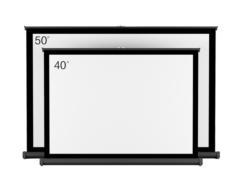 50 Inch Portable Mini Table Projector Screen Folding Screen / Desk Roll-up Projection Screen Indoor /Outdoor Matt White