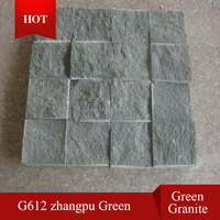 G612 zhangpu green granite,green granite paving stone , green granite cobble