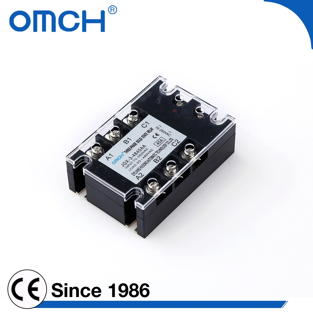 High quality 10 to 100 amp 3 phase ac voltage solid state relay