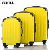 Hardshell Yellow Color Striped Luggage