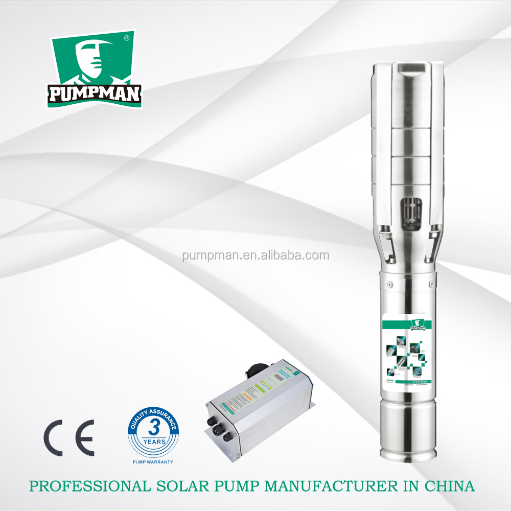 5TSC 2015 PUMPMAN new 4hp big flow rate stainless steel impeller centrifugal dc submersible farm solar water pump