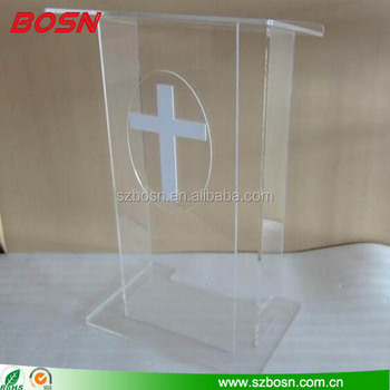 Factory direct Lucite Lectern Podium Rostrum