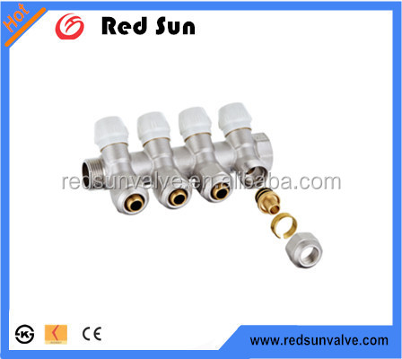 HR1070 factory manufacture forged brass water pex pipe manifold