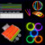 8''Party Supplies Light up Glow Bracelet ( EN71, ASTM F963)